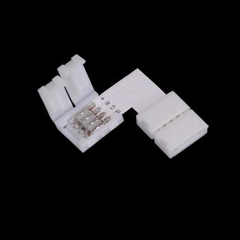 2 szt Listwy RGB LED złącze 4pin 10mm L kształt bezpłatny spawanie szybki rozdzielacz złącze kątowe z kątem prostym do listwy RGB LED tanie i dobre opinie CN (pochodzenie) NONE LED Strip Connector