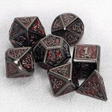 Игральные кости DND комплект ролевые игры в кости кубик для настольной игры для подземелья и дракон многогранные металлические игральные ку...