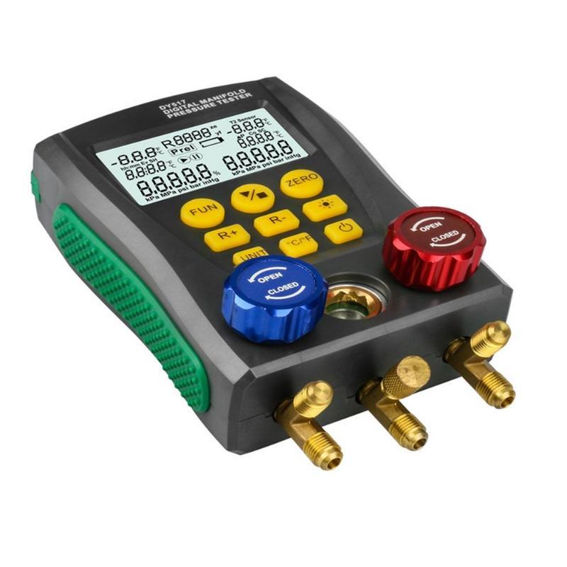 Tester Pressure Dropshipping Pressure Vacuum Meter Gauge Refrigeration Digital Manifold DY517 Tester