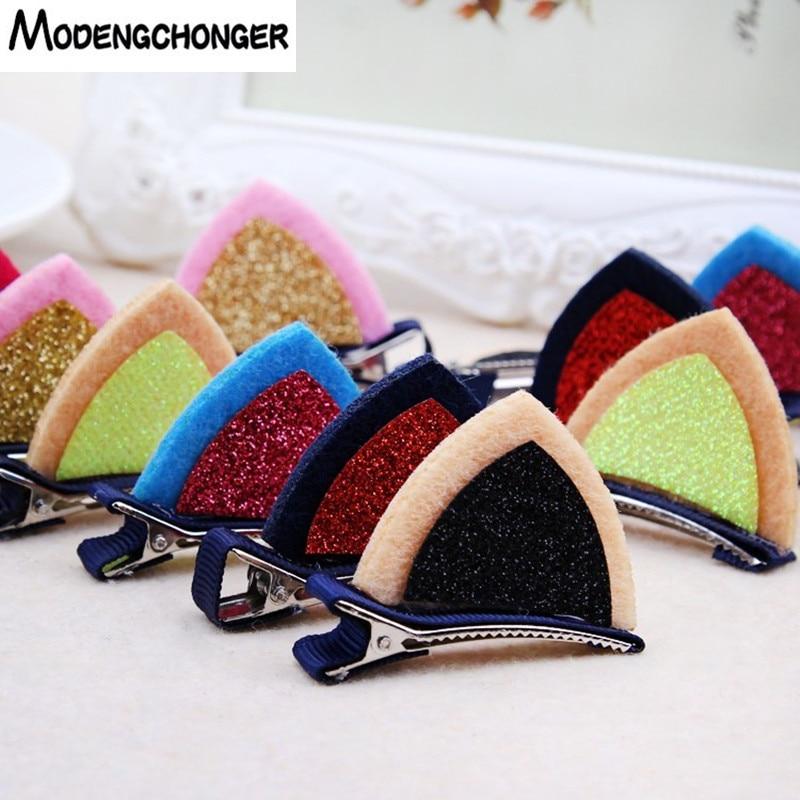 2pcs/Set Cute Hair Clips For Girls Hairpins Cat Ear BB Hairgrips Barrettes Cartoon Hair Ornament Headbands Kids Hair Accessories