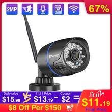 Techage 1080P 2MP kablosuz IP kamera IR gece görüş ses kayıt P2P Onvif Video güvenlik Wifi kamera açık CCTV gözetim