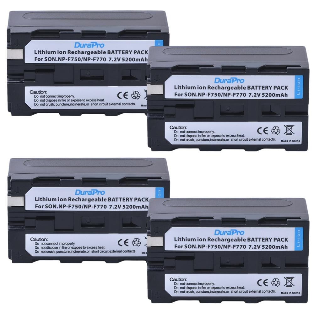 4 adet 7.2V 5200mAH NP-F750 NP-F770 NP F750 NP F770 li-ion pil Sony ccd-tr917 ccd-tr940 ccd-trv101 ccd-trv215 ccd-trv25