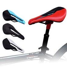 цена на Bicycle Seat Saddle MTB Road Bike Saddle Mountain Bike Racing Saddle 25*15*11cm PU Breathable Soft Seat Red Ergonomic Cushion