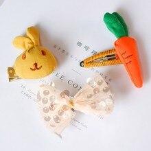 Заколки для волос для маленьких девочек с милым мультяшным бантиком, клубничным дизайном, заколка для волос для маленьких детей, аксессуары для волос принцессы