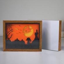 Portable Halloween Fashion 3D Lamp Papercut Carving USB Powered LED Bedroom Decor