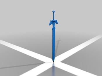 Master sword Custom order high quality high precision digital models 3D printing service Classic objects ST2208