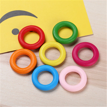 200pcs Wood Circle Ring Beads for Clothing Accessories Handmade Jewelry Charm Bead Surround Mix Color Wooden Wolesale
