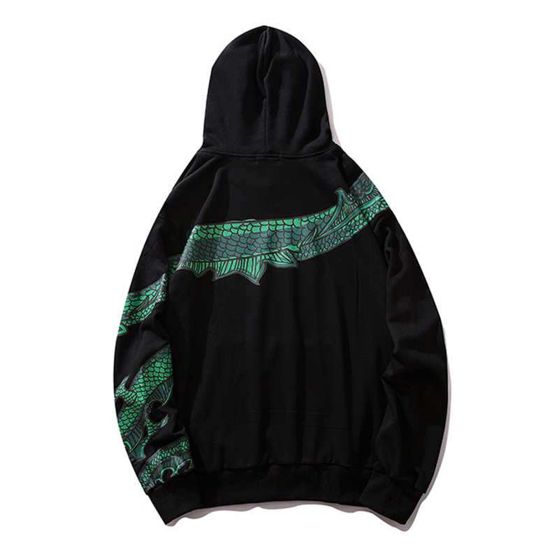 Ancient Chinese Dragon Print Fashion Hoodie Streetwear Men/Women Hip Hop Hoodie Sweatshirt Casual Red Pullover Autumn 2019