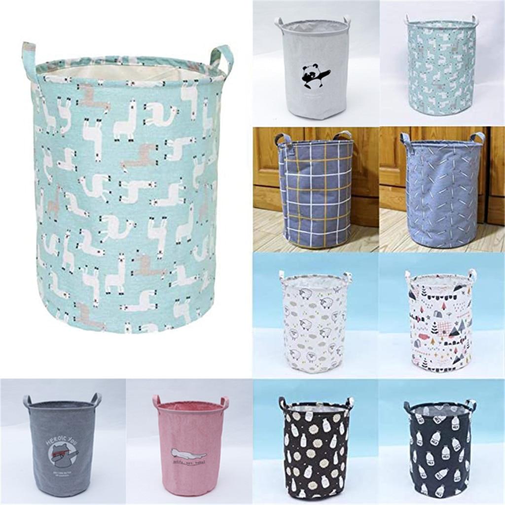 Storage Basket Laundry Linen Dirty Clothes Toys Organizer Barrel Home Storage Bag Basket For Toy Underwear Sundries 2020 New#25