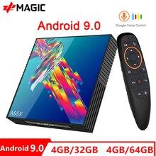 Presale A95X F2R אנדרואיד 9.0 טלוויזיה תיבת Rockchip RK3318 2.4G/5G Wifi BT4.0 4 GB RAM 32 GB/64 GB נטפליקס Youtube מדיה נגן הטלוויזיה BOX