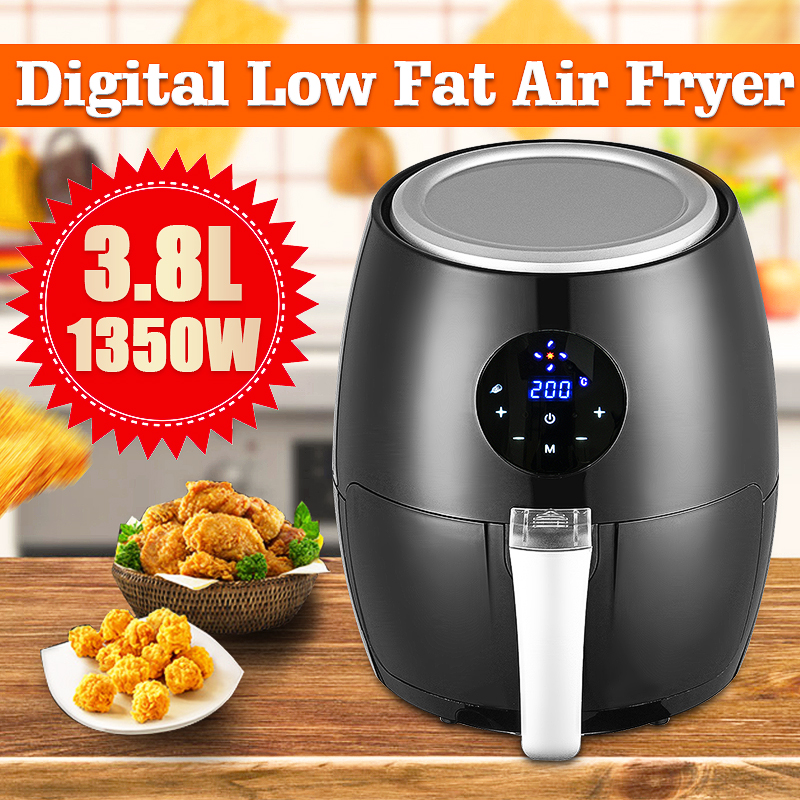 1350W 3.8L Electric Deep Fryer Air Fryer Digital LED Touch Screen Timer Temperature Control Power Air Fryer Eletric