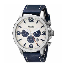 Fossil Men's Nate Stainless Steel Chronograph Watch with Nav