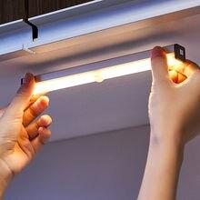 LED Light Under Cabinet Lights Bathroom Lamp USB Charging Led Motion Sensor Closet Light Kitchens Night Lights Bedroom Wardrobe