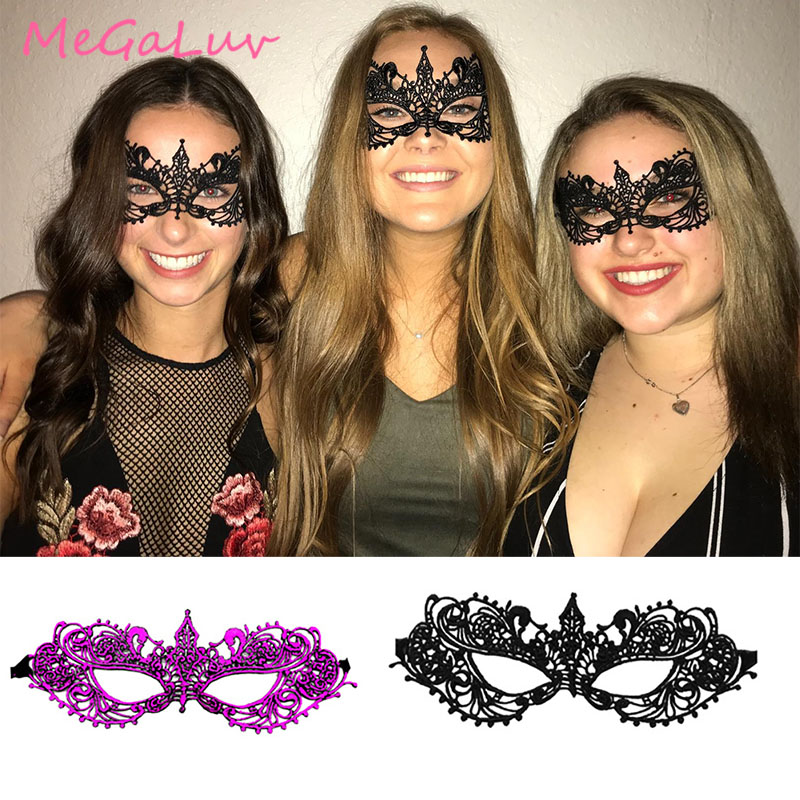 1pc Black Sexy Lace Eye Womens Masquerade Mask Halloween Party Fancy Dress Costume(China)