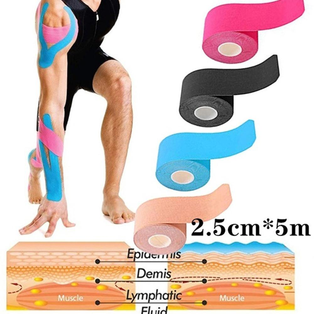 Kinesiology Recovery Muscle Tape Sports Muscle Patch Tape Strapping Breathable Physio Tape Waterproof New Pain Relief Elastic