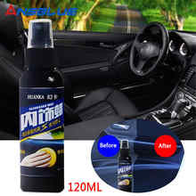 120ml Auto Coating Polish Wax Plastic Lederen Loopvlakvernieuwing Middel Auto Interieur Cleaner Band Wax Paint Care Auto Accessoires voor honda(China)