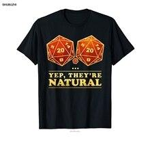 Натуральная 20 забавных футболок D20 для настольной игры в ролевой игре, хипстерские футболки, летняя мужская футболка