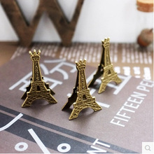 Effiel Tower Paris Metal Memo Paper Clips Gift Business Card Stand Photo Holder Message Clip