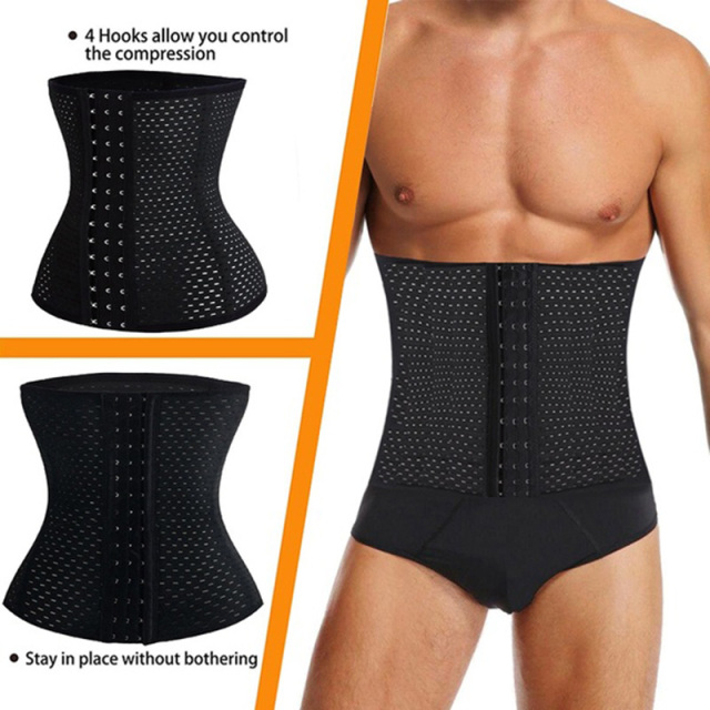 Men Waist Trainer Corset Neoprene Body Shaper Tummy Control Belt Sauna Slimming Strap Fitness Sweat Shapewear for Fat Burner 3
