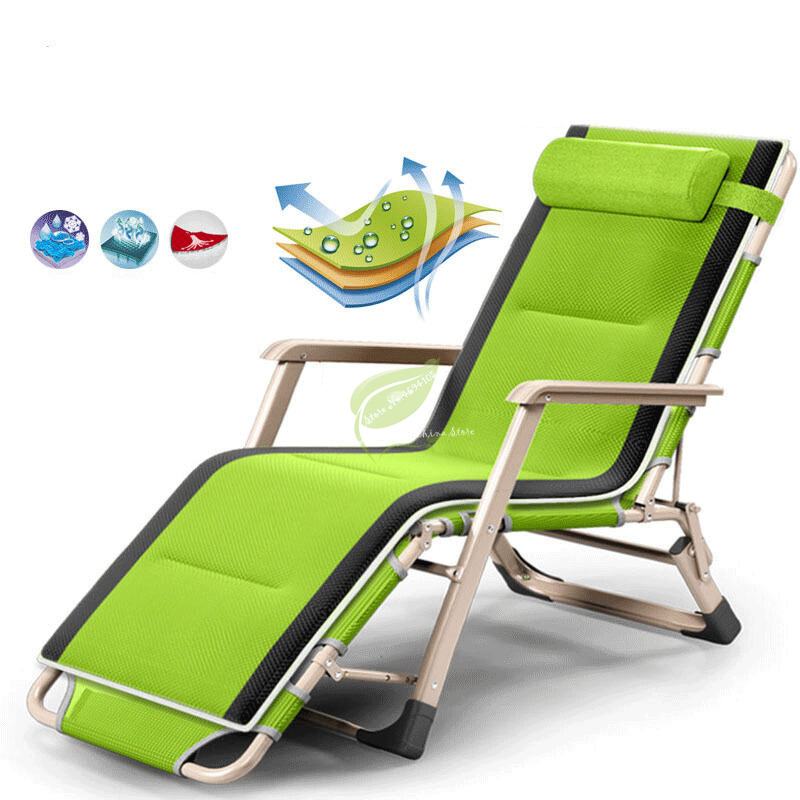 Folding Chair Lunch Break Nap Bed Balcony Leisure Back Lazy Couch Portable Chair Beach Chair Home