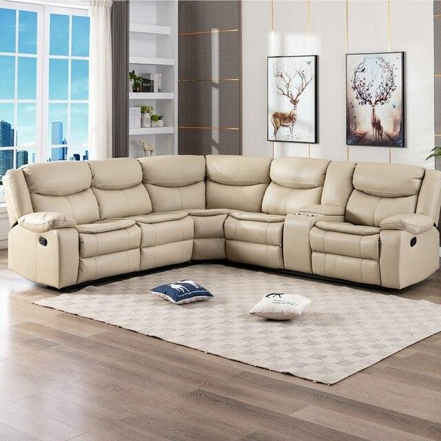 Manual Reclining Sectional Sofa Set  1