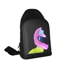 WiFi светодиод экран реклама рюкзак дисплей сумка водонепроницаемый DIY динамический город светодиод рюкзак для ходьбы рекламный щит динамический рюкзак