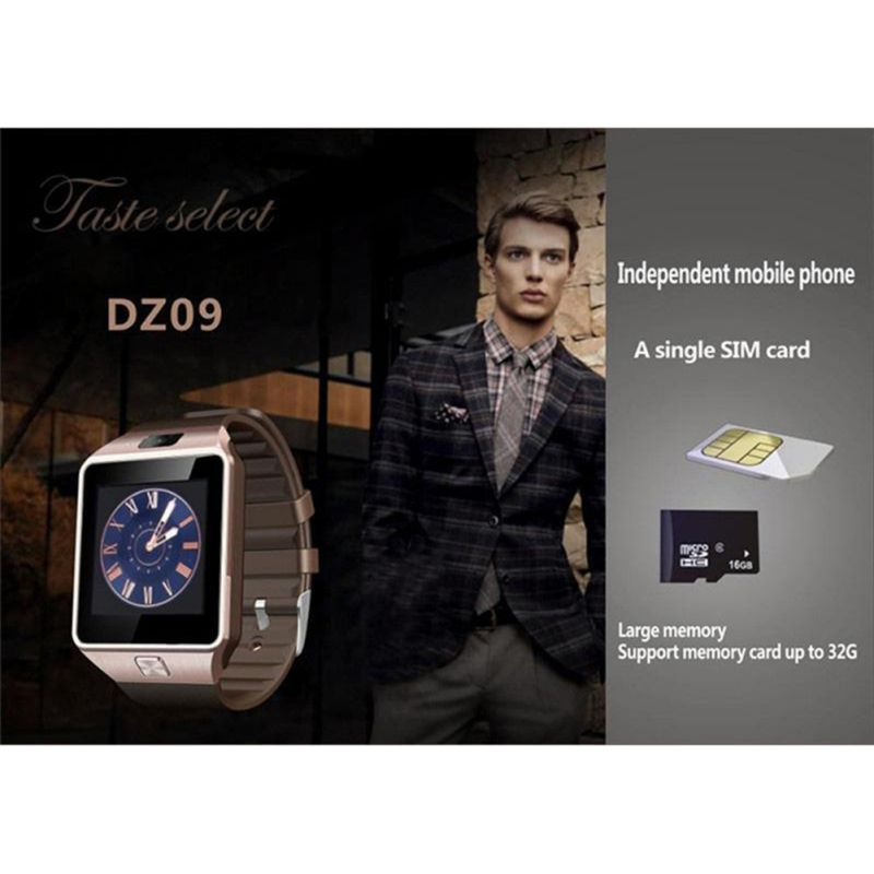Bluetooth Smart Watch Support GSM SIM TF Card Phone Call Smartwatch With HD Camera Fashion Business Watch 4 Colors