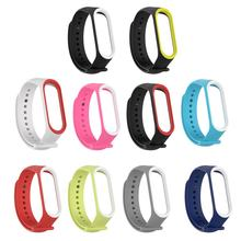 2 colors Wrist for Mi Rubber for Band 4 Wristband Smart Sports Bracelet Wristband Strap Smart Ring Accessories(China)
