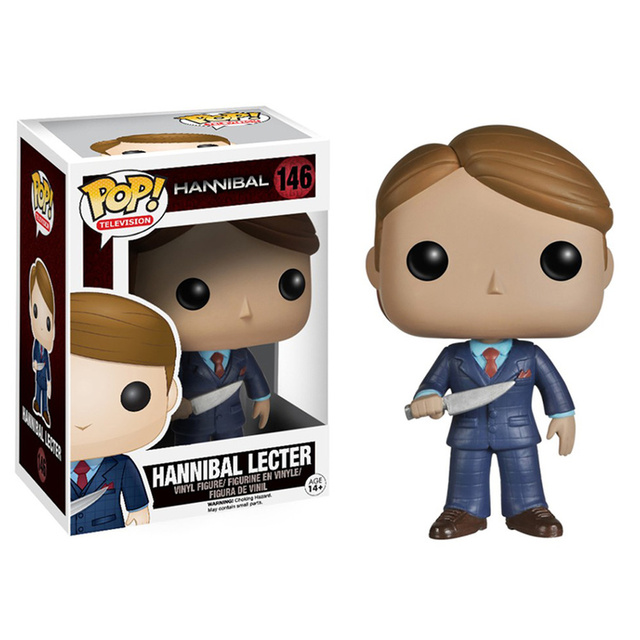 FUNKO POP Hannibal 146# Vinyl Action Figure Toys Movie Peripheral Collection Model Dolls for Kids Halloween Gifts 2