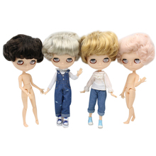 ICY DBS Blyth doll Four different hair color white skin Male Joint body  without eyechips 1/6 BJD