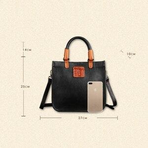 Image 5 - Johnature Designer Handbags High Quality 2020 New Retro Genuine Leather Handmade Women Tote Luxury Shoulder & Crossbody Bags