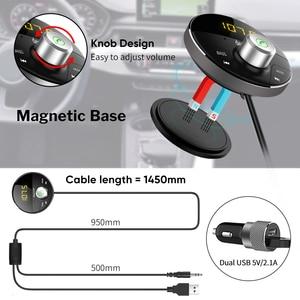 Image 5 - Deelife Bluetooth AUX מתאם במכונית דיבורית ערכת BT 5.0 אודיו מקלט עבור אוטומטי טלפון ידיים משלוח Carkit FM משדר