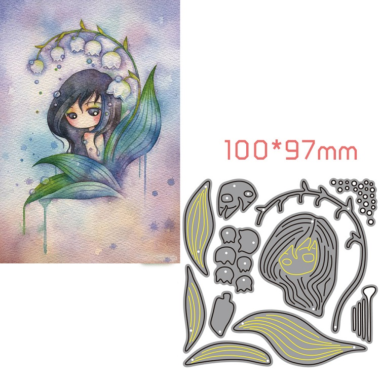 new girl to metal dies cutting for scrapbooking dies for paper card making little doll lovly flower girl 2019 Flower Fairy in Cutting Dies from Home Garden