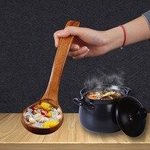 Vário casa de madeira cozinha redonda cabeça arroz colher sopa concha colher