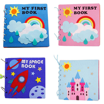 Baby Handmade My First Books Soft Felt Cloth Quiet Book DIY Toys For Kids Early Learning Montessori Educational Felt Material montessori mathematics material toys for kids early learning multiplication