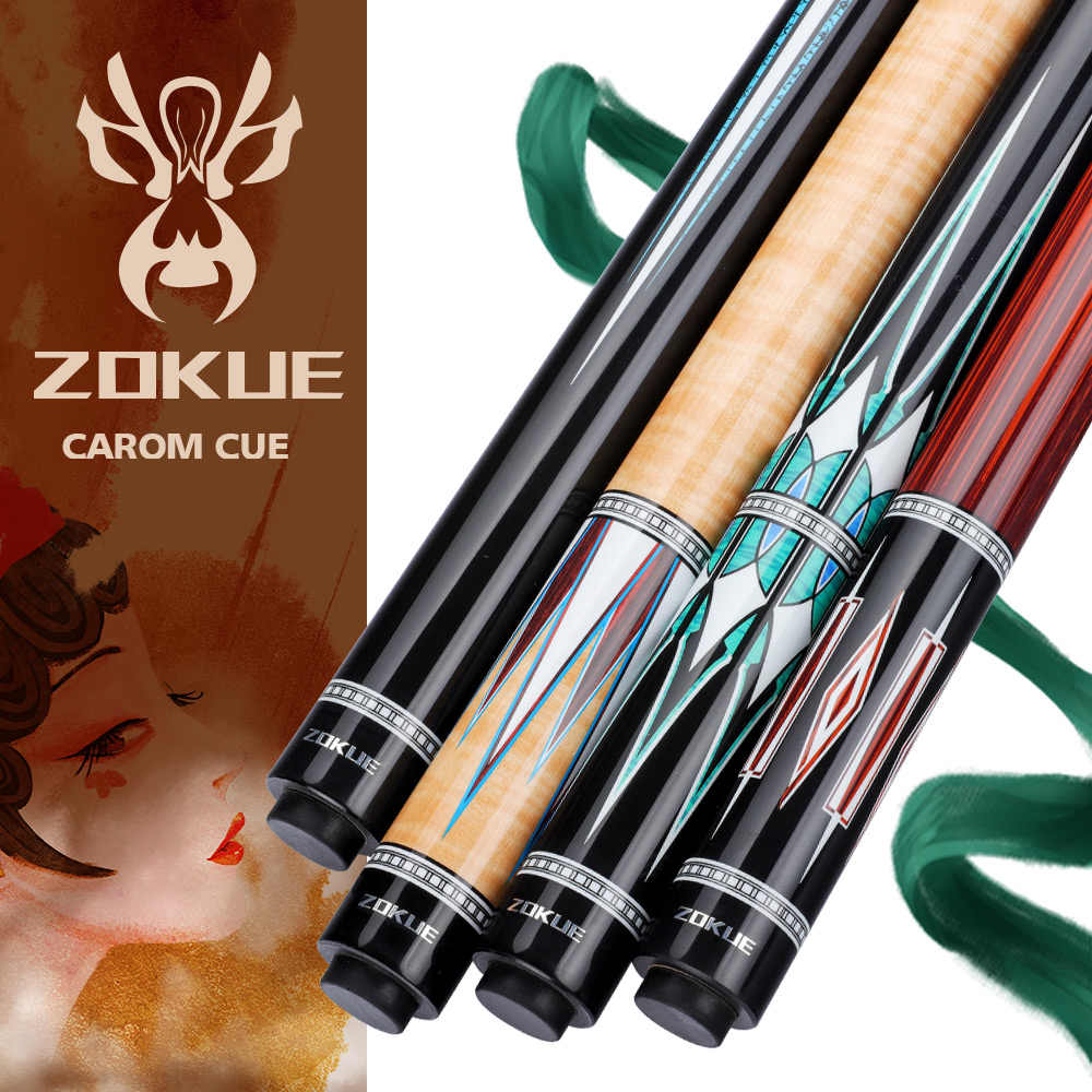 ZOKUE Carom Stick Professional Carom Billiard Cue Korean 3 Cushion Cue Carom Cue Taper 12mm Tip 142 cm Selected Canadian Maple
