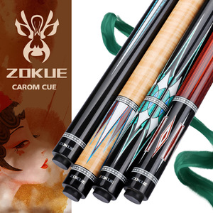 ZOKUE Carom Stick Professional Carom Billiard Cue Korean 3 Cushion Cue Carom Cue Taper 12mm Tip 142 cm Selected Canadian Maple(China)