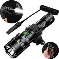Taktische Taschenlampe 1600 Lumen USB Aufladbare Taschenlampe Wasserdicht Jagd Licht mit Clip Jagd Schießen Gun Zubehör-in Waffenlichter aus Sport und Unterhaltung bei