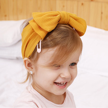 New 16 Colors Headband Newborn Toddler Baby Hair Bows Band Kids Girl Big Head Wraps Infant Headbands Accessories