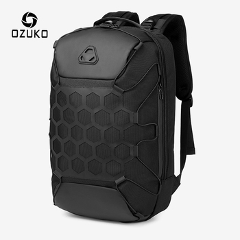 OZUKO New Fashion Men Backpack Anti Theft Backpacks for Teenager 15.6 inch Laptop Backpack Male Waterproof Travel Bag Mochilas dide usb charging anti theft leather school backpack bag for teenager fashion male waterproof travel laptop backpack men