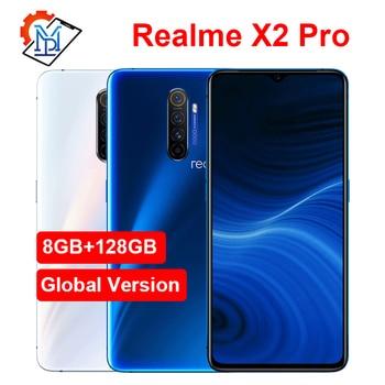 Перейти на Алиэкспресс и купить Мобильный телефон Realme X2 Pro с глобальной версией, 6,5 дюймов, 90 Гц, жидкий экран, 8 ГБ + 128 ГБ, Snapdragon 855 Plus, камера, МП, NFC, смартфон