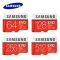 SAMSUNG EVO карта памяти Micro SD, 256 ГБ, 512 ГБ
