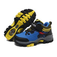 Boys Kids Hiking Shoes Autumn Winter Outdoor Walking Sneakers Toddlers Big Kids Mountain Climbing Shoes Children Sport Trainers(China)