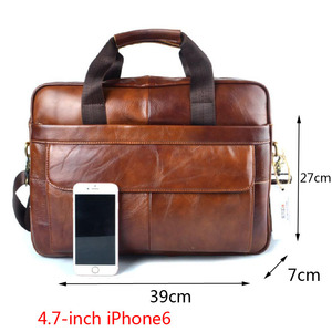 Image 5 - AETOO Genuine Leather real leather laptop bag business Handbags Cowhide Men Crossbody Bag Mens Travel brown leather briefcase