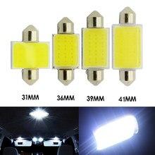 10 pçs/lote 31mm 36mm 39mm 41 milímetros Festoon COB LED 1.5W 12-SMD DC12V Car Lâmpadas LED Interior Lâmpada de Leitura Lâmpada Interior