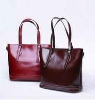 MZORANGE Women Leather Handbags Casual Brown Tote Bags Crossbody Bag TOP-handle Real Genuine Shoulder Messenger