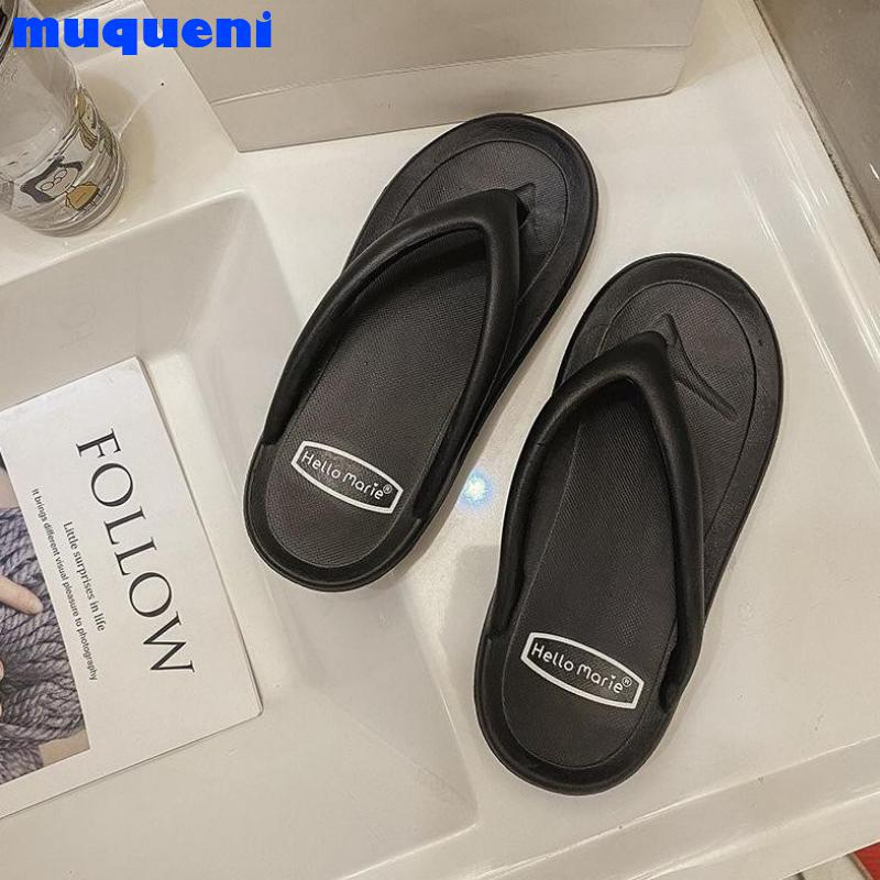 Beach Slippers Women Shoes PVC Flat Shoes Women's Summer Flip Flops Slippers Woman Solid Soft Sandal 44