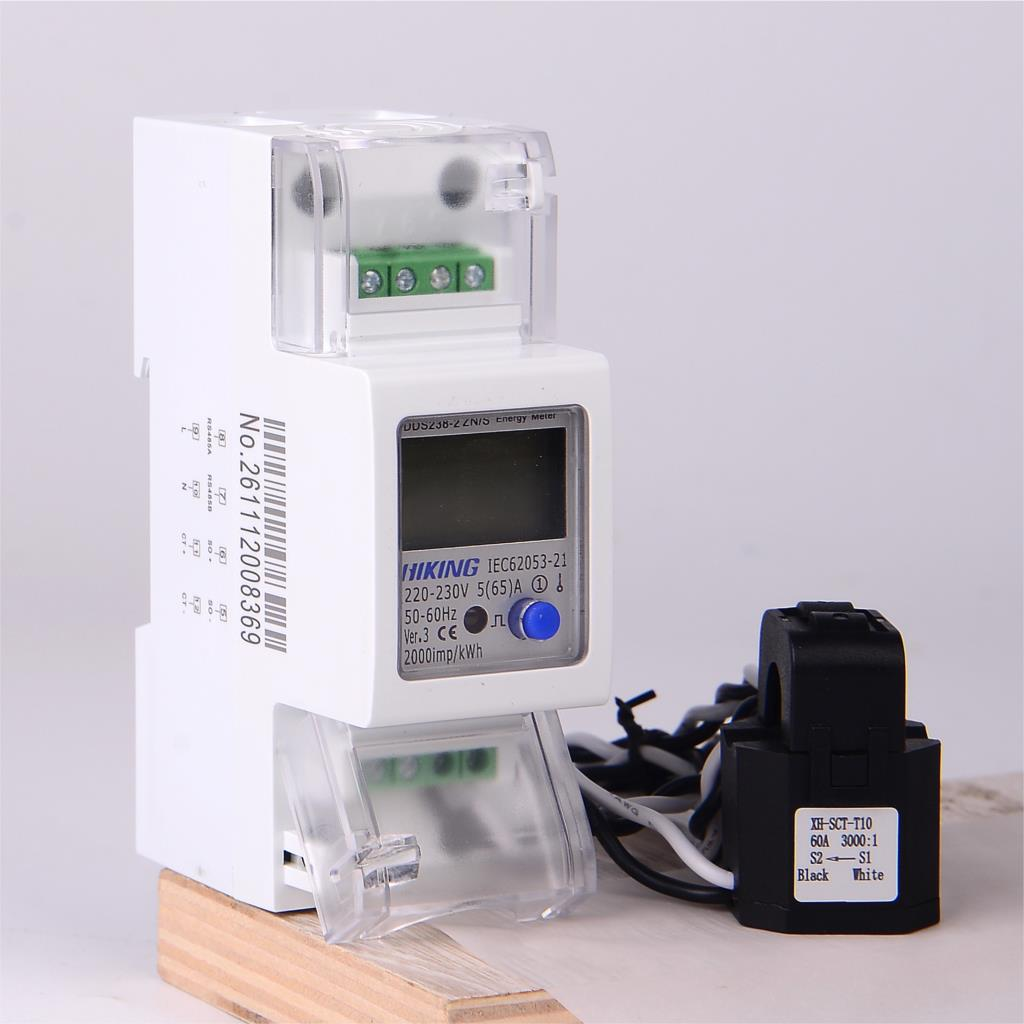 5(65)A 220 В 230 В 50 Гц 60 Гц однофазный сдвоенный CT Многофункциональный Din-рейка кВтч Ватт-час счетчик энергии с параметрами RS485