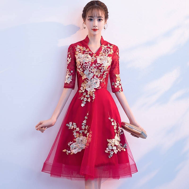 2020 Cocktail Dress 2020 New Brief Paragraph Chinese Wind Recalls Of Style Restoring Ancient Ways Small Formal Attire Suits
