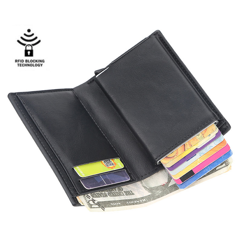 Short Rfid Card Holder Men Wallets Money Bag Male Vintage Black Short Purse 2019 Small Leather Slim Wallets Mini Wallets Thin